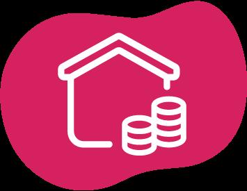 Haus mit Geld Icon